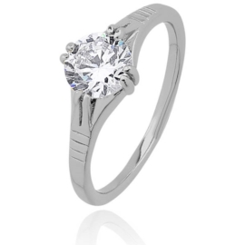 Pierścionek pozłacany Xuping kryształ gigant PP746