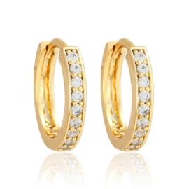 Kolczyki - Koła i kryształy - 1,7cm -EAP3300