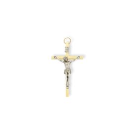 Krzyż metalowy - kolor złoty dł: 8cm KR09