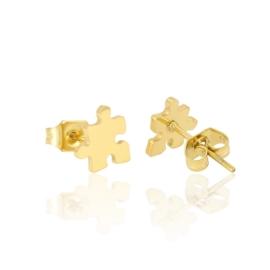Kolczyki pozłacane - 0,8cm - EAP3402