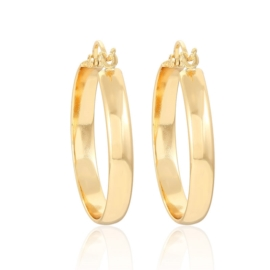 Gold plated earrings - 3,3cm - EAP3410