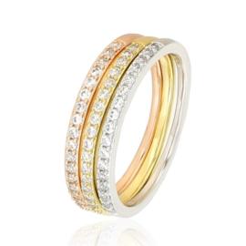 Pierścionek Xuping - 3 pierścionki w jednym PP866
