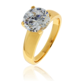 Pierścionek Xuping - dorodny kryształ - PP870