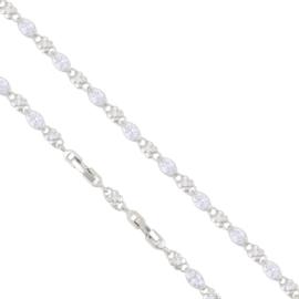 Bransoletka rodowana - 21cm - BP1476