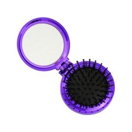 Składana szczotka do włosów z lusterkiem - SZC51