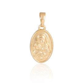 Medalik pozłacany - Św. Maryja - 2,3cm - PRZ882