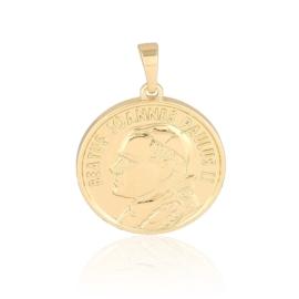 Medalik pozłacany - Jan Paweł II - 2,8cm PRZ915