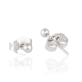 Kolczyki rodowane - 0,3cm - EAP4006