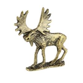 Figurka jeleń na podstawce - 5szt. 5,9cm FR166