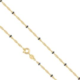 Łańcuszek pozłacany - dł: 45cm LAP638