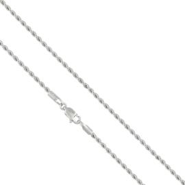 Łańcuszek rodowany - 50cm LAP674