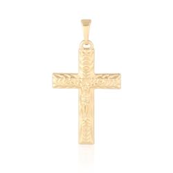 Medalik pozłacany - Krzyżyk - 3,4cm - PRZ1016
