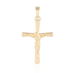 Medalik pozłacany - Krzyżyk - 3,5cm - PRZ1017