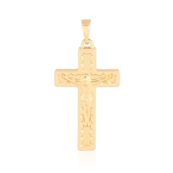 Medalik pozłacany - Krzyżyk - 3,9cm - PRZ1018