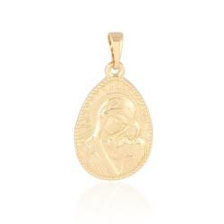 Medalik pozłacany - 2,8cm - PRZ1020