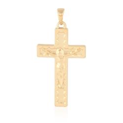 Medalik pozłacany - Krzyżyk - 3,7cm - PRZ1052