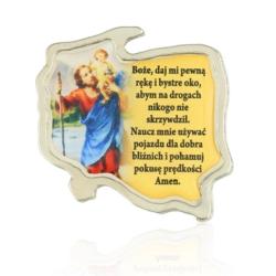 Figurka metalowa - Św. Krzysztof - FR129