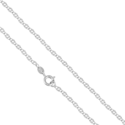 Łańcuszek rodowany - dł: 50cm LAP747