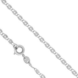 Łańcuszek rodowany - dł: 50cm LAP748