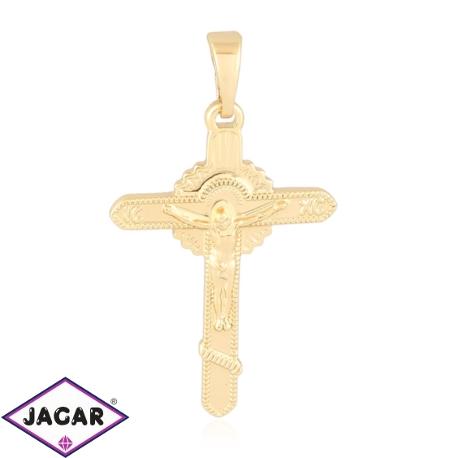 Medalik pozłacany - Krzyżyk - 3,1cm - PRZ1066