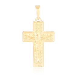 Medalik pozłacany - Krzyż - 3,7cm - PRZ1086