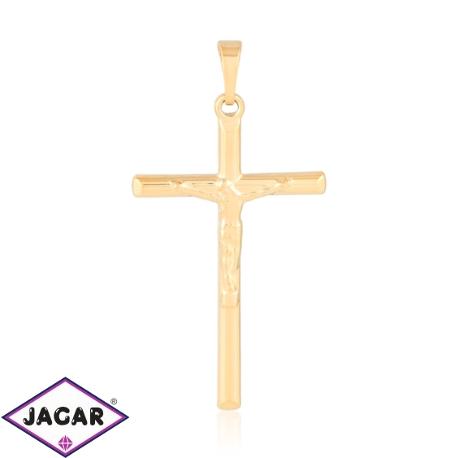 Medalik pozłacany - Krzyż - 4,2cm - PRZ1087