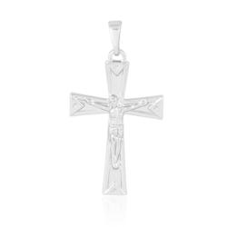 Medalik rodowany - Krzyż - 3,5cm - PRZ1100
