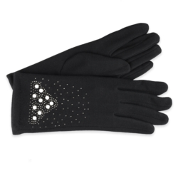 Eleganckie rękawiczki damskie - 23cm - RK414