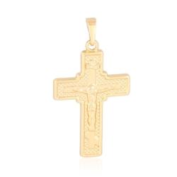 Krzyżyk pozłacany - krzyżyk 3,7cm - PRZ1115