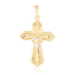 Krzyżyk pozłacany - krzyżyk 3,5cm - PRZ1116