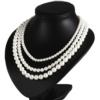 Naszyjnik perła - 3-rzędowy - 50cm PER327