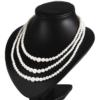 Naszyjnik perła - 3-rzędowy - 50cm PER325