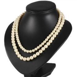 Naszyjnik perła - 2-rzędowy - 50cm PER345