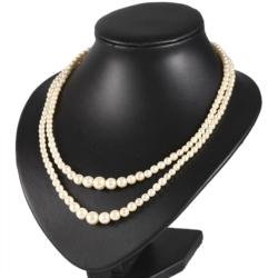 Naszyjnik perła - 2-rzędowy - 50cm PER347