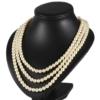 Naszyjnik perła - 3-rzędowy - 60cm PER349