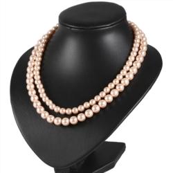 Naszyjnik perła - 2-rzędowy - 50cm PER356