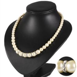 Naszyjnik perła 5 rondli Stopniowany - 50cm PER344