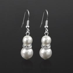 Kolczyki perła błyszcząca - 4,5cm - PEK39