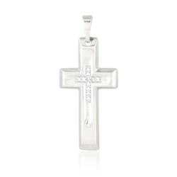 Krzyżyk rodowany - 3,4cm - PRZ1219