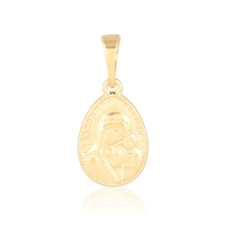 Medalik pozłacany prawosławny - 2,2cm - PRZ1225