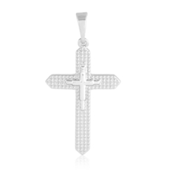 Medalik rodowany - Krzyżyk - 3,4m - PRZ1230