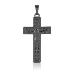 Krzyżyk czarny - 4cm - PRZ1261