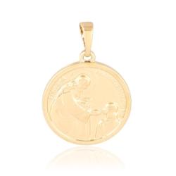 Medalik pozłacany Pamiątka I Komunii 2,5cm PRZ1268