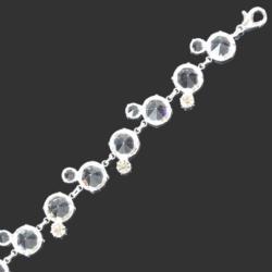 Bransoletka z kryształami B/7m - 22,5cm BRA653