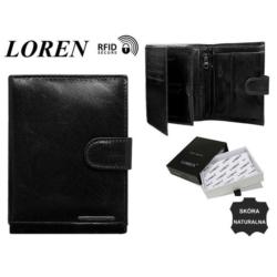 Portfel skórzany FRM-70-03-BLACK - 10x12,5cm P429