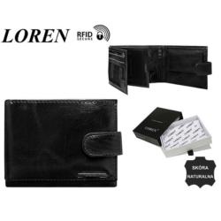 Portfel skórzany FRM-70-02-BLACK - 10x12,5cm P430