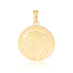 Medalik pozłacany - Jezus - 2,7cm PRZ1314