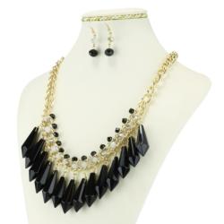 Komplet biżuterii - Naszyjnik i Kolczyki - KOM13
