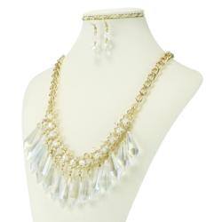 Komplet biżuterii - Naszyjnik i Kolczyki - KOM15