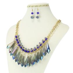 Komplet biżuterii - Naszyjnik i Kolczyki - KOM16